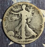 1920-S WALKING LIBERTY SILVER HALF DOLLAR COLLECTOR COIN. FREE SHIPPING