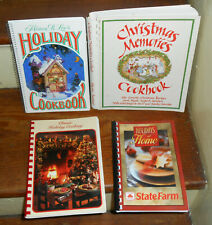 LOT OF 4 BEST VINTAGE HOLIDAY COOK BOOKS CLASSIC MEMORIES CHRISTMAS THANKSGIVING