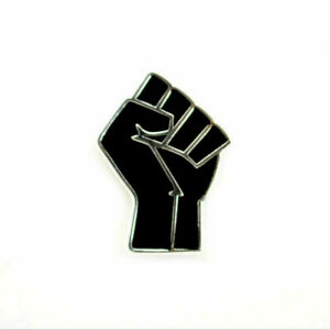 2X Black Fist Pin BLM Power Freedom Resist Solidarity Protest Black Lives Matter
