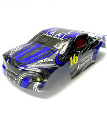 18606 Off Road Nitro RC 1/16 Scale Monster Truck Body Shell Cover Navy Blue Cut