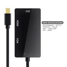3-In-1 Mini Display Port to DVI +VGA +HDMI Adapter for MacBook Air/Pro Imac TBE