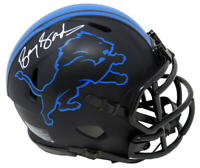 Barry Sanders Signed Detroit Lions Eclipse Matte Riddell Speed Mini Helmet - SS