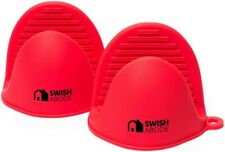 New listing Swish Abode Red Silicone Oven Mitts Set(2) for Instant Pot or Kitchen use as Pot