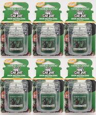 6 Yankee Candle BALSAM & CEDAR Car Jar Odor Neutralizing Air Freshner