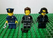 LEGO Minifigure Lot Series 9, 15 & 16 Police Officer Spy Jewel Theif Robber Set