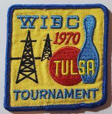 1970 Tulsa WIBC Tournament Bowling Patch Vintage
