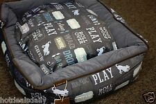 """It'S A Dogs Life Pet Lounge Bed Dog Canine Med 31""""X25""""X8"""" 100% Cotton Washable"""