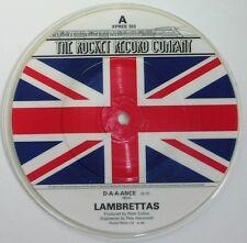 LAMBRETTAS 'D-A-A-ANCE' mod revival 45 picture disc Rocket Records