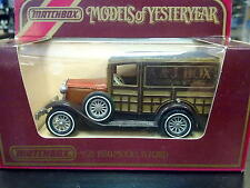 "Matchbox Models of Yesteryear Ford ""A"" 1927 Y-21 bruin ""A&J Box"""