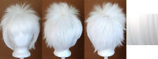 13'' Spiky Short Snow White Synthetic Cosplay Wig NEW