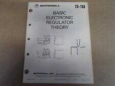 1979 Motorola 25-139 Basic Electronic Regulator Theory Manual OEM Boat 79
