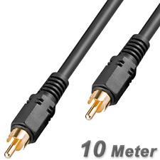 DIGITAL KOAX CINCH KABEL / KOAXIAL / SP-DIF /  auch für Audio & Video - 10 Meter