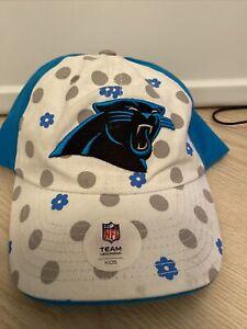 Carolina Panthers NFL Team Apparel  Girls Ball Cap Youth  White Blue Black