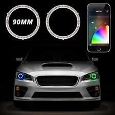 90mm RGB Switchback Halo Kit APP Control Turn Signal DRL Angel Eye Retrofit