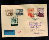 1938 Klangenfurt Germany Austria Anschluss Cover Mixed Franking to Hamburg