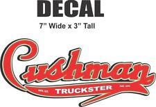 "Cushman 7"" Truckster Vinyl Decal"