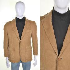Trapunta Vintage 60s/70s in pelle toppe sui gomiti Cord Blazer S 38r Marrone cordouroy Giacca