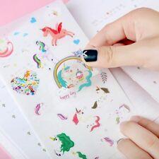 6 Sheets Cute Unicorn Stickers Adhesive Craft Label Phone Notebook Decora