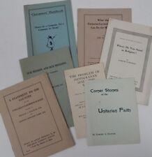 7 Unitarian booklets 1920s Religion Stand Problem Immigrants Canvassers Handbook