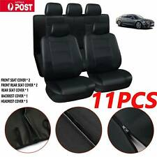 11Pcs/Set Universal Car Seat Covers Front&Rear Seat Back Head Rest Protector
