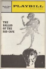 "Edward Albee  ""Ballad of the Sad Cafe""  Playbill  1963  Colleen Dewhurst"