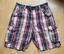 "Mens Next Check Cargo Shorts Size 32"" Waist VGC"