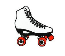 Patch embroidered iron on cloth badges kawaii biker skating boot roller skates