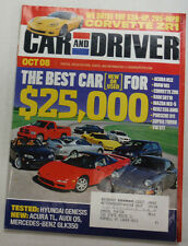Car And Driver Magazine Acura NSX & BMW M3 October 2008 052615R2