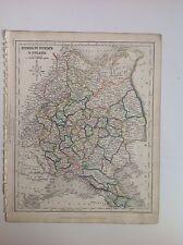 Russia In Europe  & Poland c1850 Original Antique Map Gilberts Modern Atlas