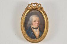 k21m50- Barocke Miniatur Porträt Gemälde, Ende 18. Jh.