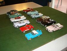12 FRANKLIN MINT PRECISION CAR MODELS -1950's CLASSICS, VERY NICE