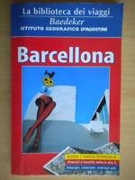 Barcellona Guida con carta stradale 1:15.000 Baedeker De Agostini 2004 viaggi 43