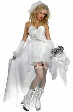 Zombie Bride Grundge Deceptions Sexy 80's Pop Bride Teen Girls Size Womens 12-14