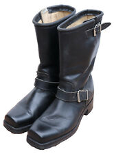DON QUIJOTE COWBOY Boots Leather Motorcycle Riding 8 Stivali