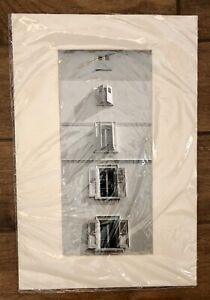 "Vintage Bela Kalman Photograph Print ""Windows in Montreux"" Switzerland, 1962"
