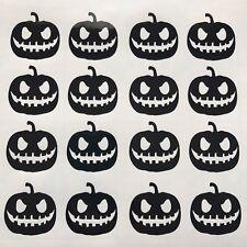 16 X Halloween Vinyl Decal Sticker Wine Glass Decals Pumpkin BLACK