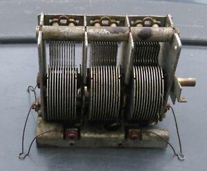 Vintage Valve Radio 3-Gang Variable Tuning Capacitor/Condenser.