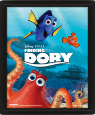 FINDING DORY DISNEY PIXAR DIMENSION 3D BOX LENTICULAR FRAME NEW & READY TO HANG