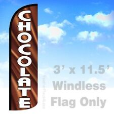 Flag Only 3' WINDLESS Swooper Feather Full Sleeve Banner Sign - CHOCOLATE q