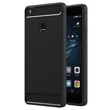 Huawei P9 Lite Funda para móvil CARBONO PROTECTOR SILICONA
