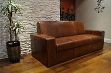 Leder Sofa Echtleder Couch 100%  Echtes Leder Rindsleder Rückenlehne H-45cm