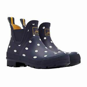 Joules Wellibob Womens Boots Wellington - Navy Spot All Sizes