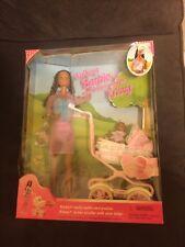 Brand New African American Walking Barbie & baby sister Krissy,
