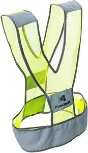 FuelBelt Neon Vest High Vis Safety Visibility Reflective Running Jogging Straps
