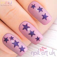 Púrpura brillo Star Nail Stickers, Calcomanías, Arte 01.02.032