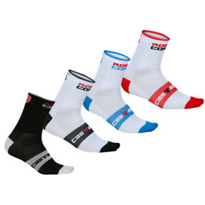 4 pairs castelli  rosso corsa  cycling socks