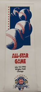 VINTAGE CHICAGO CUBS 1990 ALL-STAR GAME STREET BANNER