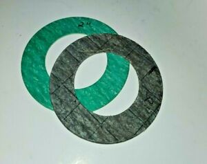 """2"""" Round Flange Water Meter or Flange Fitting, Fiber RING Style Gaskets, 1 Pair"""