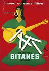 Art Print Gitanes Avec ou sans Filtre Cigarettes Cig Smoke   Poster