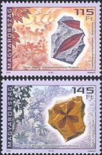 Hungary 2016 Fossils/Leaf/Trees/Geology/Minerals/Rocks/Volcanoes 2v set (n45539)